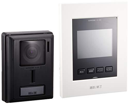 アイホン テレビドアホン シンプルデザイン 録画機能付き AC電源直結式 JS-12E