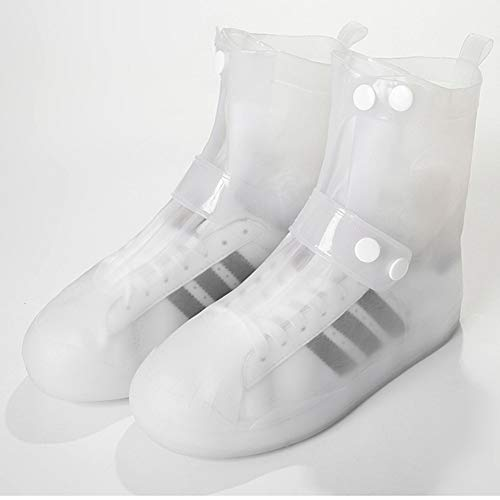 Lesrly-Cycle Fundas para Zapatos A Prueba Agua, Lluvia Antideslizante La Cubierta del Zapato Reutilizable Silicona con Doble De Pecho Ajuste, Rain Cover Durable Hombres Mujeres Plegable Portát