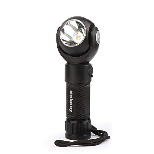 Nakeey Linterna LED recargable por USB, 360 grados, maglite, con 7 modos...