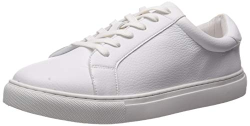 The Drop Women's Nina Lace-up Fashion Sneaker, White, 7.5 M US