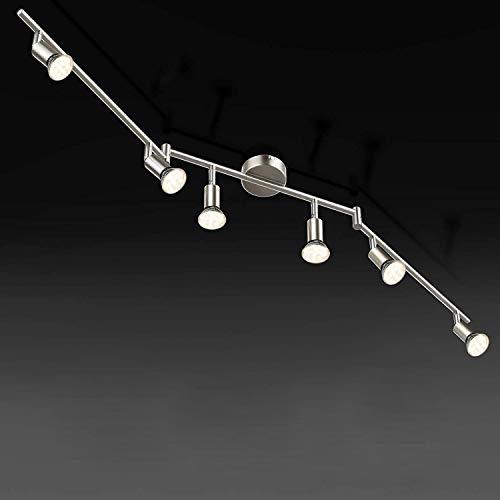 Volasal LED Deckenleuchte Schwenkbar, 6 Flammig, inkl. 6 x 4W Leuchtmittel GU10 LED, 400LM, Warmweiß, LED Deckenlampe LED Deckenspot LED Deckenstrahler LED Leuchte