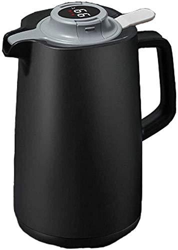 Jarra Térmica Termo cafe Liner de aislamiento térmico de vidrio Revestimiento inteligente Jarra térmica térmica, matraz de vacío térmico rojo grande, adecuado para jugo / leche / té / café aislamiento