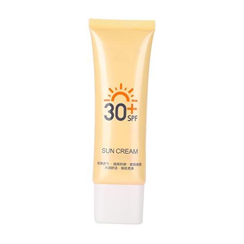 Crema de Protección Solar,SPF30 + UV Sunblock Brightening Crema impermeable