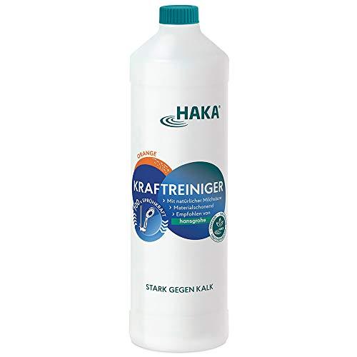 HAKA Kraftreiniger I 1 L Kalkreiniger Nachfüllflasche I Reinigungsmittel gegen Kalk und Schmutz I Entfernt Kalkverschmutzungen, Wasserflecken und Seifenreste in Küche und Bad