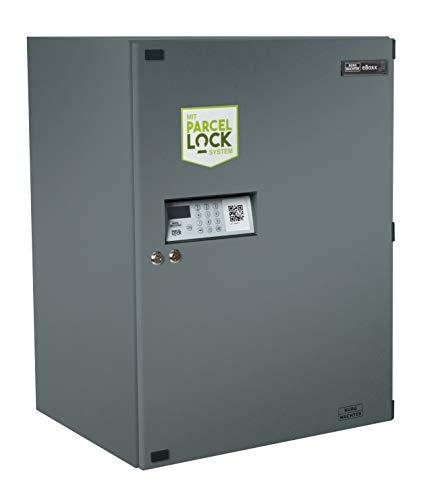 BURG-WÄCHTER Paketbox, eBoxx GV 644 ANT ParcelLock, Elektronisches Öffnungs- und Schließsystem, Verzinkter Stahl, Anthrazit, Inkl. Batterien und Befestigungsmaterial