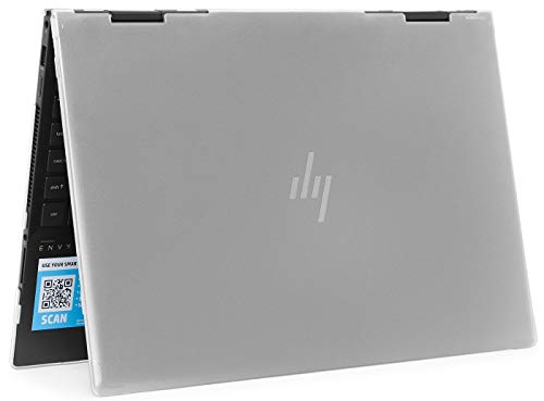 mCover Hard Shell Case for 2020 15.6' HP Envy x360 15-EExxxx (AMD CPU) / 15-ED (Intel CPU) Series Laptop (NOT Compatible with Envy x360 15-AQ/BP/DS/DR Series & Other Models) (Clear)