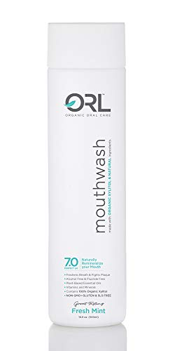 ORL Natural & Organic Mouthwash – Uniquely Formulated to Clean Your Mouth, Whiten Your Teeth, Strengthen Tooth Enamel, & Reduce Bad Breath That Also Helps to Restore Your Mouth's Natural Perfect pH.