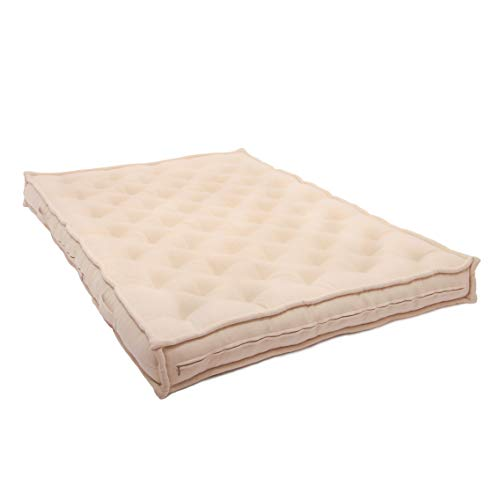 "Best Review Of Home of Wool 7"" Tufted Wool Mattress/Oeko-Tex Certified Materials/Full, Twin, Queen..."