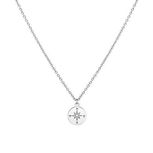 Purelei Halskette Kompass (Kompass-Silber)