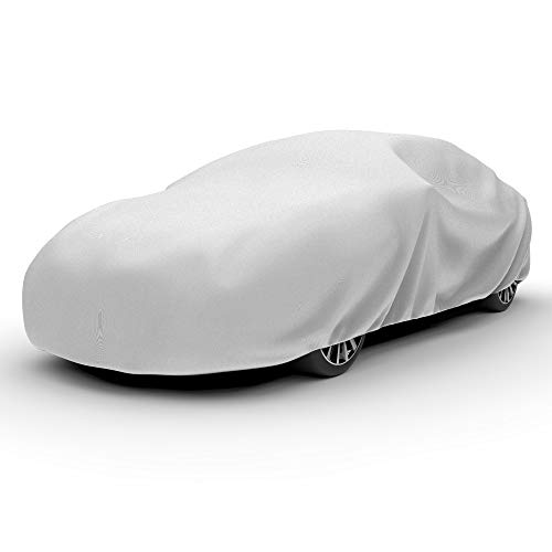 """Budge Lite Car Cover Indoor/Outdoor, Dustproof, UV Resistant, Car Cover Fits Sedans up to 200"""", Gray"""