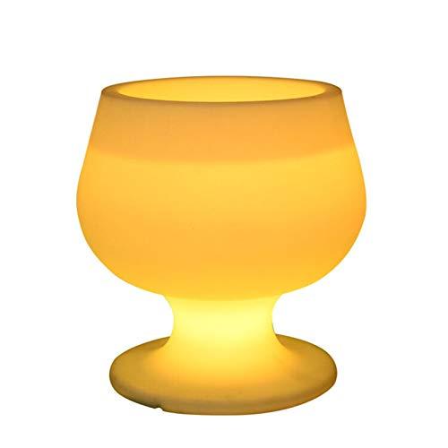 Range Accesorios y decoración del Bar de la casa Barra De Hielo De Vidrio Brillante LED Barra De Hielo KTV Club Usado PE PE PLÁSTICO Barril Luminoso del Barril De Vino para congelador