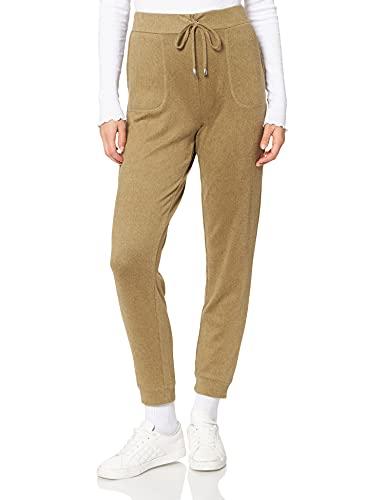 find. Jogginghose Damen mit schmalem Bein und großen Taschen, Grün (Khaki), 38 (Herstellergröße: Medium)