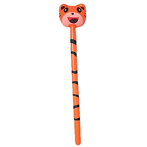 WFZ17 1Pc Niños Inflable Stick Juguete Jirafa Rana Animal Inflable Palo de Aire Blow Bar Fiesta Niños Animar Props Tigre #