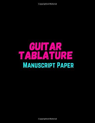 Guitar Tablature Manuscript Paper