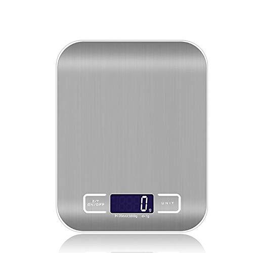 JUZEN Balance De Cuisine Électronique Haute Précision 5Kg / 1G LCD Digital Food Balance Outils De Mesure D'échelle De Poids en Acier Inoxydable Balances Poids Numérique