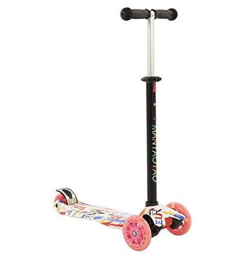 Sajan Kinderscooter ab 3 Jahre - Dreiradscooter - Roller Kinder - LED-Räder - Graffiti