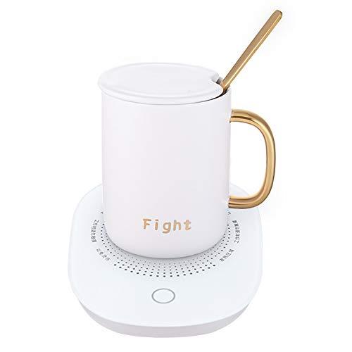 Light kopjeswarmer koffiewarmer voor thee, koffie, melk, cacao, instelbare temperaturen (55 °C), ideaal voor kantoor thuis