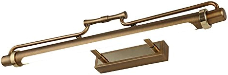 QAZ Badezimmerspiegel Beleuchtung LED-Spiegel Scheinwerfer, Retro Spiegelleuchte Bad Badezimmer Spiegelschrank Beleuchtung wasserfestes Make-up (Gre  8 W 47 cm)