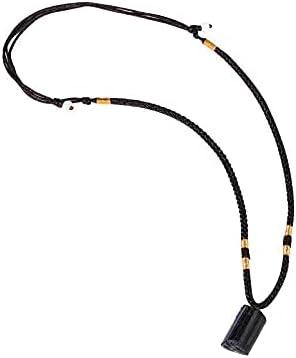 2021 Black Tourmaline Necklace Crystal Pillar Pendant ,Original Natural Stone Metaphysically Psychic Protection