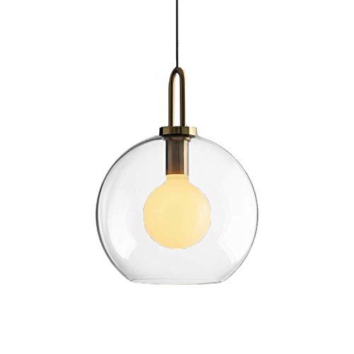 Hanglampen, industriële hangplafondlampen, grote verlichting, industriële wijnoogst, met overtrekspiegel, grijs, glazen lampenkap (kleur: doorzichtig)