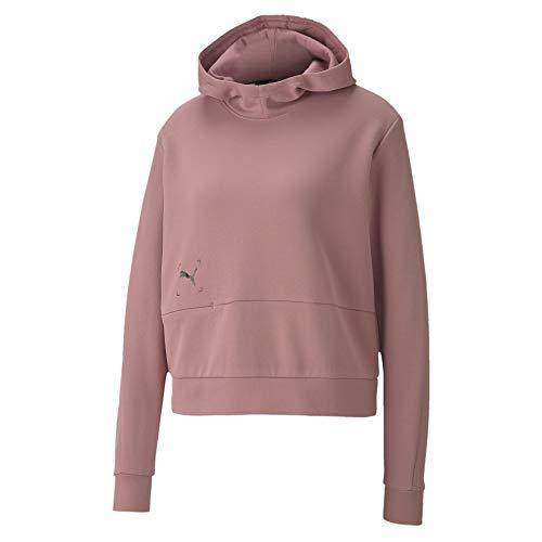 PUMA Damen Nu-tility Hoodie Sweatshirt, Rosa, XL