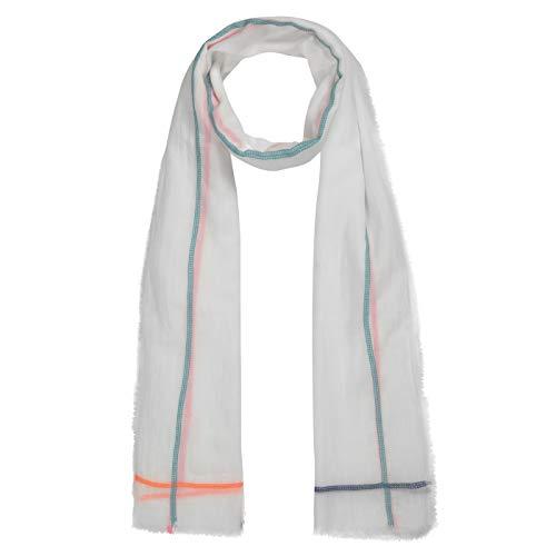 CODELLO XL-Schal aus leichter Sommerbaumwolle mit Neonstreifen
