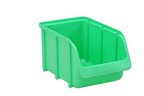 hünersdorff Sichtbox / Stapelbox / Lagerbox in Größe 3, stapelbar, Farbe: Grün