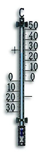 TFA 12.5001.01 - Termómetro de Exterior, metálico, Color Negro