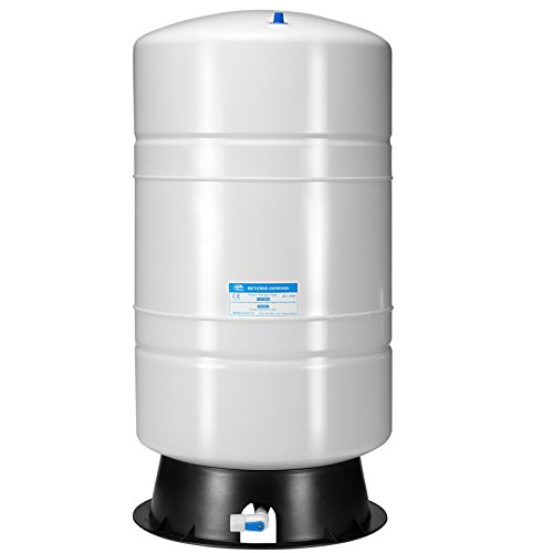 iSpring T20M 20 Gallon Pre-Pressurized Tank for Reverse Osmosis (RO) Systems with 14 gallons of water storage capacity, 20 gal, White
