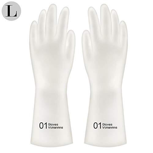 Aibrou rubberen handschoen voor de keuken, rubberhandschoenen, washandjes, waterdicht, keukenreiniging, spoelhandschoenen, latex rubber, reinigingshandschoenen Large Cijfers 5 paar