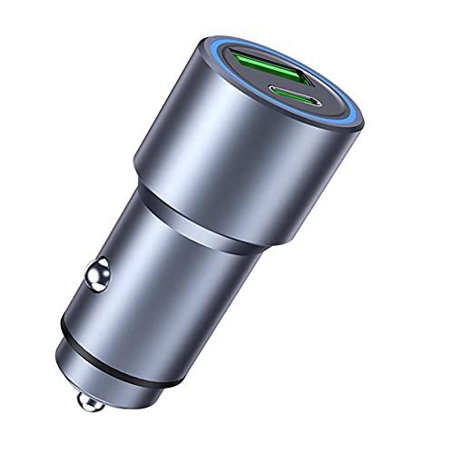 CARMAE Cargador de coche rápido mini cigarrillo adaptador USB encendedor divisor carga rápida dual puerto USB teléfono adaptador para todos los teléfonos inteligentes