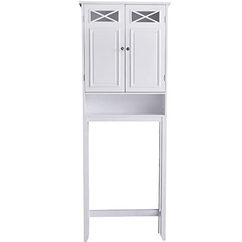 Dawson Over Toilet Space Saver Étagère White - Elegant Home Fashions