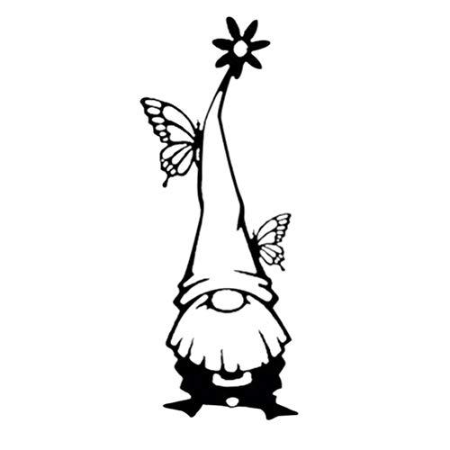 Yumira Gartenzwerge, Metall GNOME Statuen Eisen Kunst Garten Zwerg Figuren Garten Dekor Zweig GNOME Silhouetten Statuen Osterdekoration Frühlingsdekoration für Garten, Hof