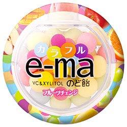 UHA味覚糖 UHAピピン e-maのど飴 容器 (カラフルフルーツチェンジ) 33g×6個入×(2ケース)