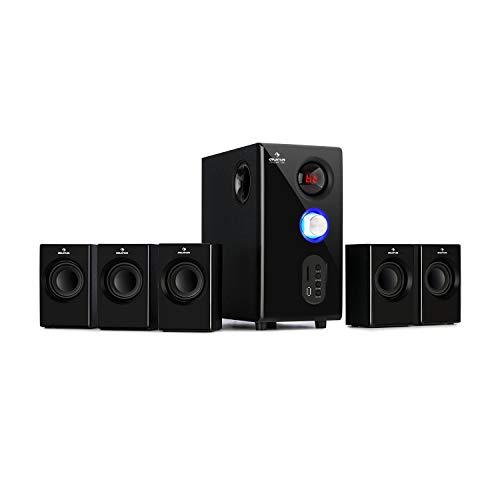 "auna Concept 520 - Sistema de Altavoces 5.1, Sistema de Audio Envolvente Activo, Subwoofer OneSide 6,5"", Bluetooth, Puerto USB SD, Balanced Sound Concept, Mando a Distancia"