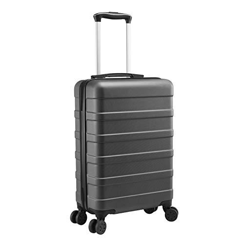 Cabin Max ANODE Valigia Rigida da Viaggio con Porta di Ricarica USB, Trolley Bagaglio a Mano con 4 Ruote, 55cm