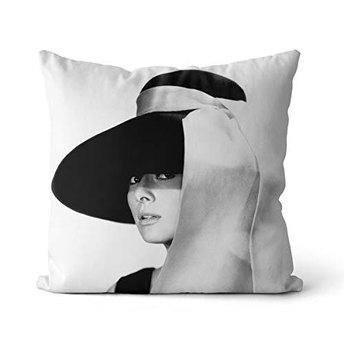Cojín de sofá Estampado Kathleen Hepburn Actor Ondine Gigi Sauce Piquante Sauce...
