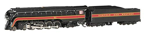Bachmann Trains - Norfolk & Western Class J 4-8-4 DCC Sound Value Equipped Steam Locomotive - N&W #611 - N Scale (53253)