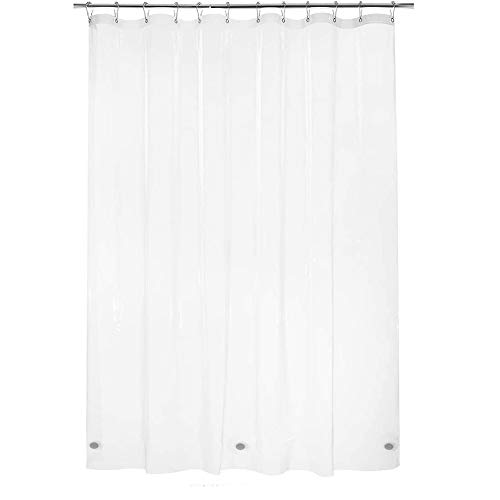 Titanker Shower Curtain Liner, Waterproof Lightweight 3G PEVA Shower Liner, 12 Metal Grommet Holes Shower Curtain with 3 Magnets for Bathroom, Hotel, Bathtub, 72 x 72 Inches - Clear