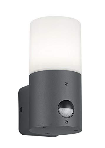 Trio Leuchten Hoosic 222260142 Außen Wandleuchte, Aluminium, Anthrazit/Weiß, Bewegungsmelder