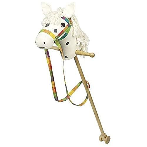 Goki 53940 Hobby Horse White with Dark Brown Dots, Mixed