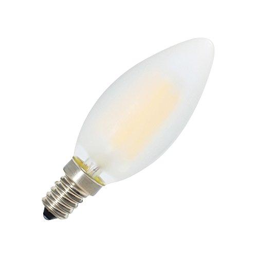 6er-Pack E14 Dimmbar LED Kerzenform Ersetzt 40W Glühlampen,Warmweiss 2700K, C35 4W, Matt Glas,360º Abstrahlwinkel LED Birnen, LED Kerzenlampen, LED Kerzenleuchten, LED Leuchtmitte - 3