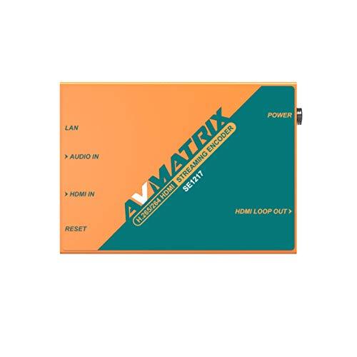 AVMATRIX SE1217 H.265/264 HDMI Streaming Encoder 1×HDMI Input, 1×HDMI Loop Out, 1×Analog Audio Input