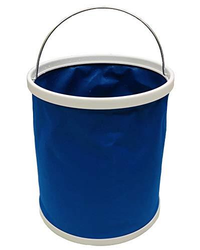 VAIYNWOM Cubo plegable de 11 l, accesorio para caravanas, camping, pesca, cocina, 11 litros, compacto, color azul