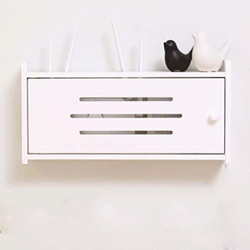 Montado en la pared flotante plataforma de televisión armario con estanterías Plug Wire Cajas de almacenaje del zócalo Acabado cuadro titular / soporte for WIFI TV consola del router estante de DVD