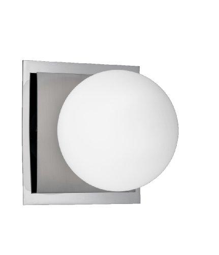 Trio-Leuchten 2802011-07 Halogen-Badleuchte 1x28W G9 12x12 cm Nickel matt/chrom Glas opal weiß IP 21