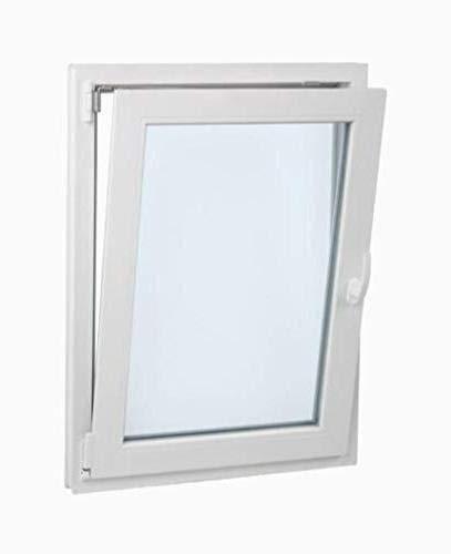 TermProtect | Ventana PVC 70 cm x 100 cm | REGALO garras de fijación | 1 hoja | Oscilobatiente | Termico y acustico | Vidrio doble hoja | Practicable | Resistente al sol | Apertura izquierda