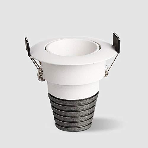HSCW Mini LED Miniatura empotrada Focos de techo 1W / 3W / 5W Luz Neutral 4000K High CRI 80RA COB Down Downlights para la exhibición del gabinete Armario Hogar comercial Lightings (Color : White 1w)