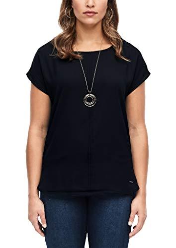 TRIANGLE Damen 18.912.32.9332 Kurzarm T-Shirt, Schwarz (Black 9999), (Herstellergröße: 50)