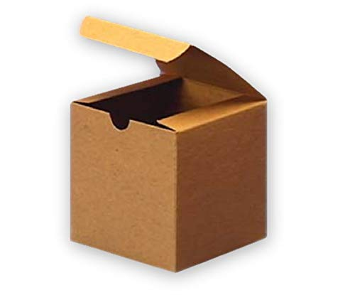 Brown Cardboard Kraft Gift Boxes 6x6x4 (20 Pack) for Gifts, Crafting & Cupcakes